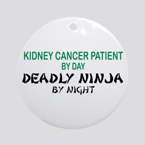 Kidney Patient Deadly Ninja Ornament (Round)