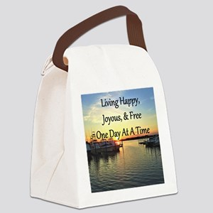 LIVING HAPPY Canvas Lunch Bag