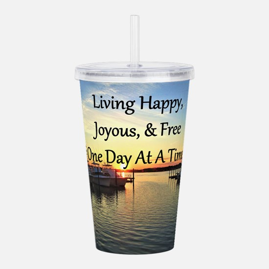 LIVING HAPPY Acrylic Double-wall Tumbler
