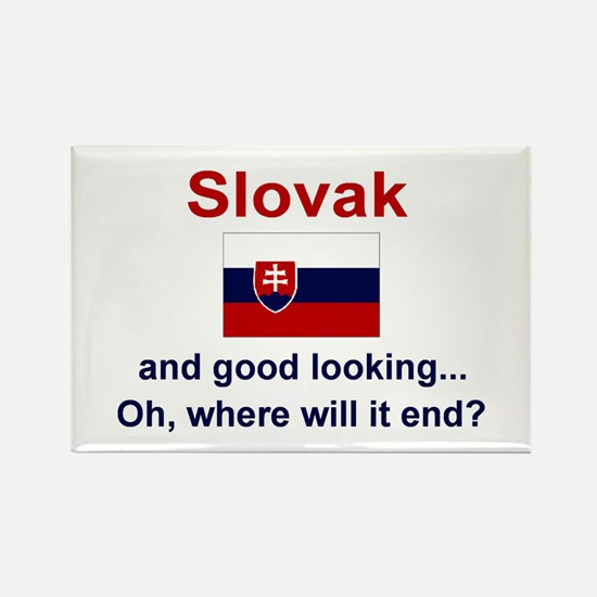"Good Looking Slovak Magnet (3""x2"")"