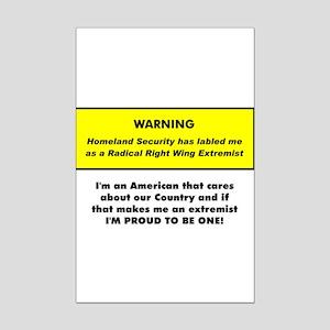 Proud American Extremist Mini Poster Print