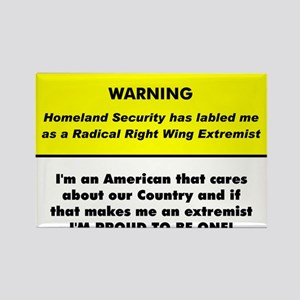 Proud American Extremist Rectangle Magnet