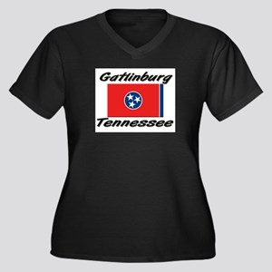 Gatlinburg Tennessee Women's Plus Size V-Neck Dark