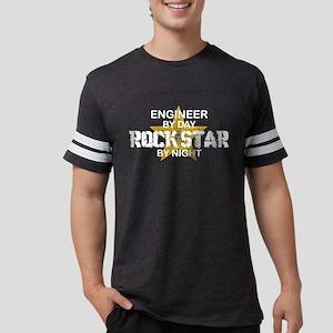 Engineer Rock Star by Night Women's Dark T-Shirt