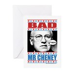 Bad Mr Cheney Greeting Cards (Pk of 10)