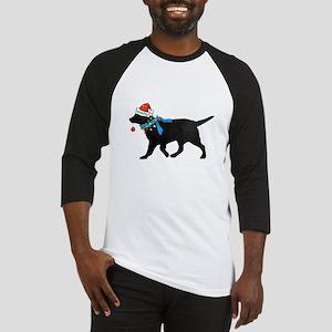 Black Lab Naughty Christmas Dog Baseball Jersey