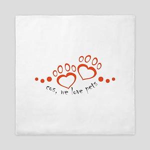cos, we love pets Queen Duvet