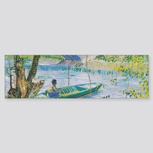 Van Gogh Fisherman and boats Sticker (Bumper)