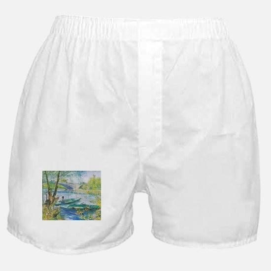 Van Gogh Fisherman and boats Boxer Shorts