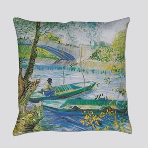 Van Gogh Fisherman and boats Everyday Pillow