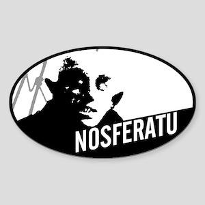 Nosferatu: Count Orlok Oval Sticker