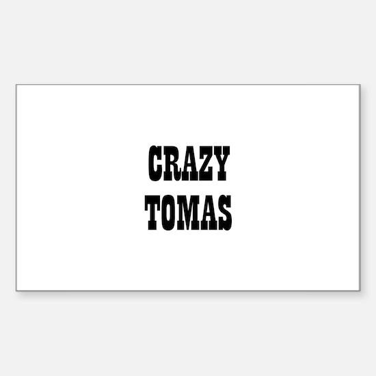 CRAZY TOMAS Rectangle Decal