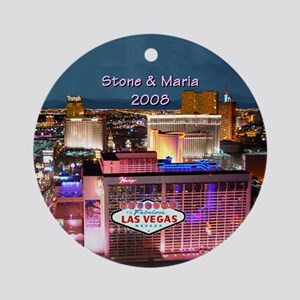 Las Vegas Strip B Personalized Ornament (Round)