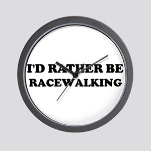 Rather be Racewalking Wall Clock