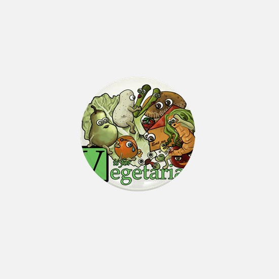 Go vegan Mini Button