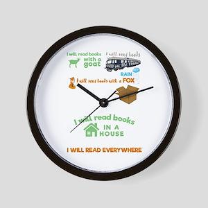 Funny Bookish Bookworm I Will Read Book Wall Clock