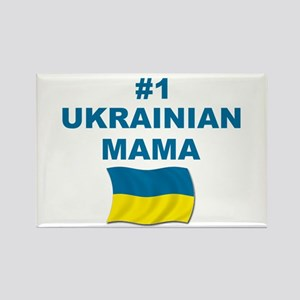 #1 Ukrainian Mama Rectangle Magnet