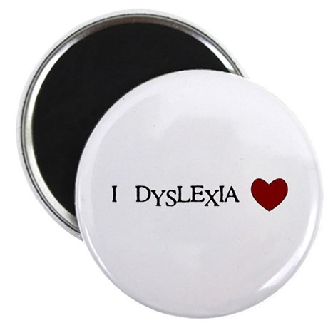 "I Dyslexia Love 2.25"" Magnet (100 pack)"