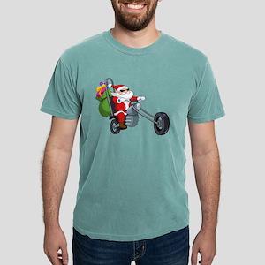 biker badass santa claus T-Shirt