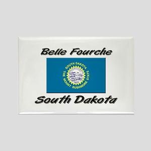 Belle Fourche South Dakota Rectangle Magnet