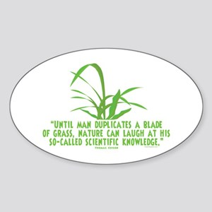 Edison Nature Quote Oval Sticker