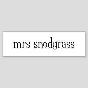 mrs snodgrass Bumper Sticker