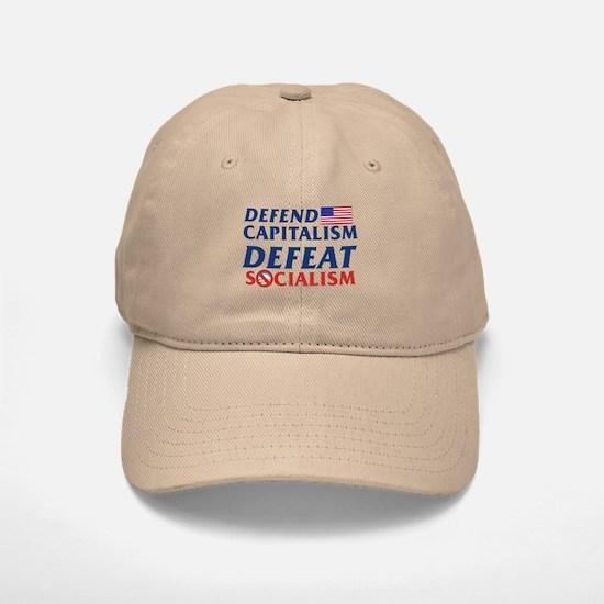 Defend Capitalism, Defeat Socialism Baseball Baseball Cap / Hat