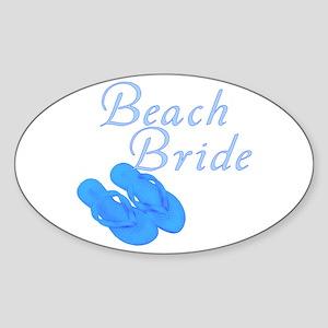 Beach Bride Oval Sticker