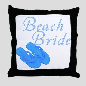 Beach Bride Throw Pillow