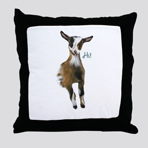 Nigerian Dwarf Goat Throw Pillow