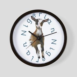Nigerian Dwarf Goat Wall Clock