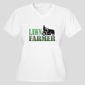 Lawn Farmer Women's Plus Size V-Neck T-Shirt