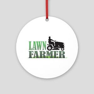 Lawn Farmer Ornament (Round)