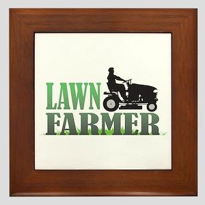 Lawn Farmer Framed Tile