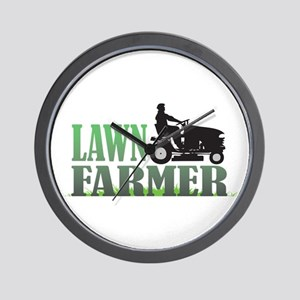 Lawn Farmer Wall Clock