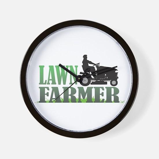 Lawn Farmer Wall Clock