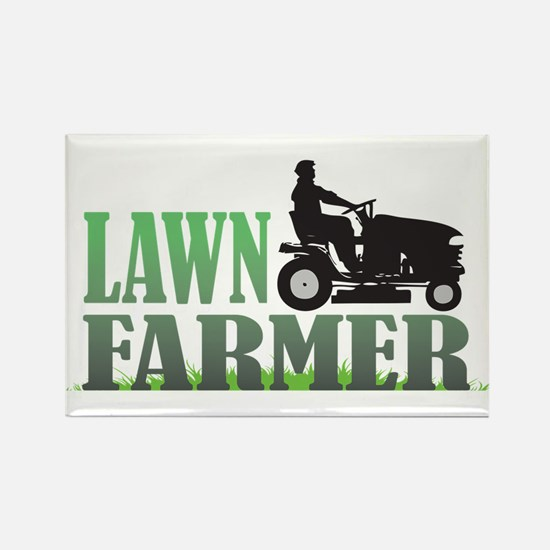 Lawn Farmer Rectangle Magnet (10 pack)