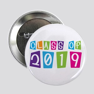"Colorful Class Of 2019 2.25"" Button"