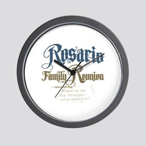 Rosario Family Reunion Wall Clock