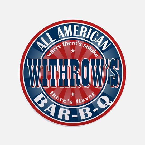 "Withrow's All American Barbeque 3.5"" Button"