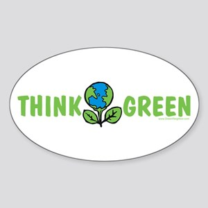 Think Green Oval Sticker