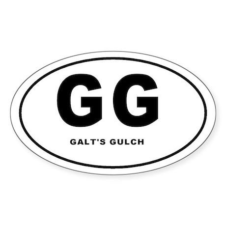 Galt's Gulch Oval Sticker
