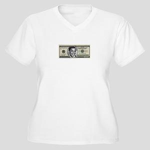 Trillion Dollar Bill Women's Plus Size V-Neck T-Sh
