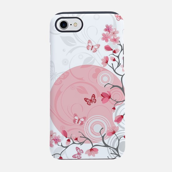Bright Cherry Flowers iPhone 7 Tough Case