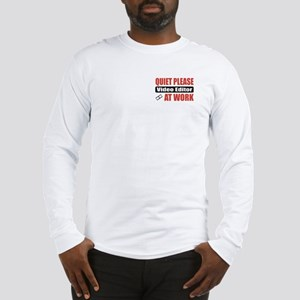 Video Editor Work Long Sleeve T-Shirt