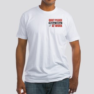 Video Editor Work Fitted T-Shirt