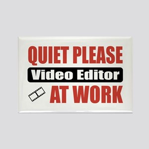 Video Editor Work Rectangle Magnet