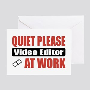 Film editor greeting cards cafepress video editor work greeting card m4hsunfo