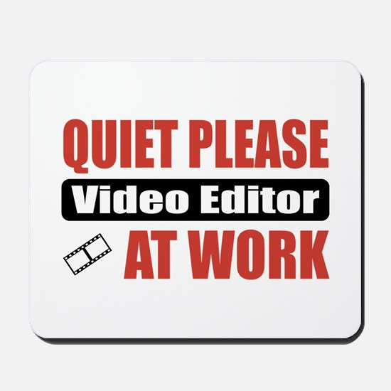 Video Editor Work Mousepad