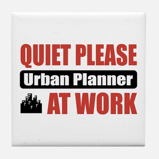 Urban Planner Work Tile Coaster